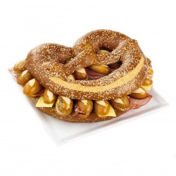 Le bretzel surprise garni