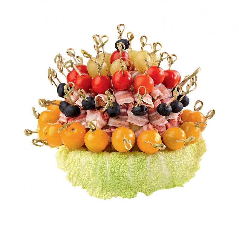 La brochette de lard - Presentation de brochette de fruits ...